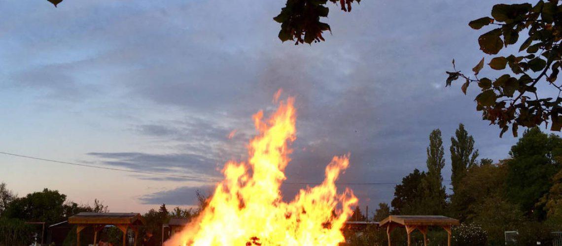 Das Oktoberfeuer im KGV